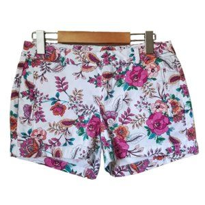 A. N. A. Floral Twill Flat Front Shorts 6